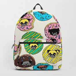 Pug Donuts Backpack