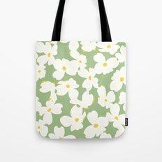 Dogwood Floral: Sage/Green Tote Bag