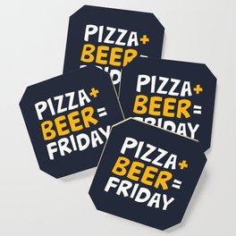 Pizza + beer = Friday Coaster