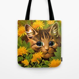 "Louis Wain's Cats ""Tabby in the Marigolds"" Tote Bag"