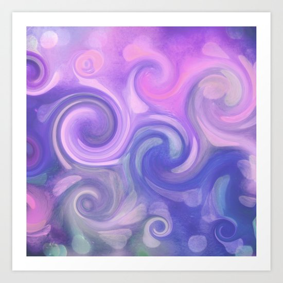 purple swirl Art Print