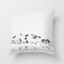 Wading birds in Flight Throw Pillow