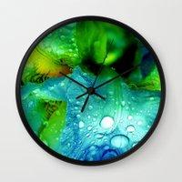 splash Wall Clocks featuring Splash by Stephanie Koehl