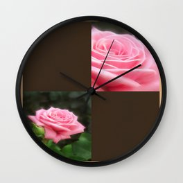 Pink Roses in Anzures 3 Blank Q3F0 Wall Clock