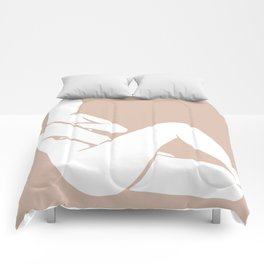 tan abstract nude 1 Comforters
