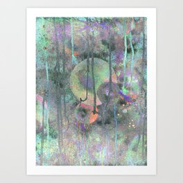 Nebular Spheres Art Print