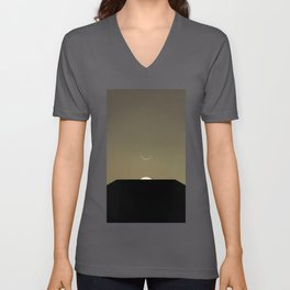 2001 Space Odyssey Minimal Dawn of Man Monolith Alignment Unisex V-Neck