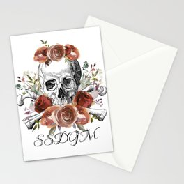 SSDGM skull and flowers Stationery Cards