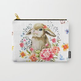 Little bunny watercolor illustration Carry-All Pouch