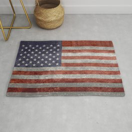 Flag of the United States of America in Retro Grunge Rug