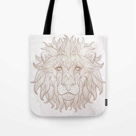 Ethnic Lion Tote Bag