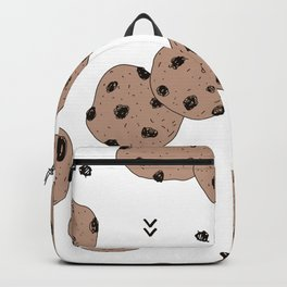 Chocolate chip cookie jar illustration pattern Backpack