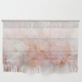 Beautiful Pink and Gold Ombre marble under snow Wall Hanging