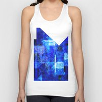 rothko Tank Tops featuring Sapphire Nebulæ by Aaron Carberry
