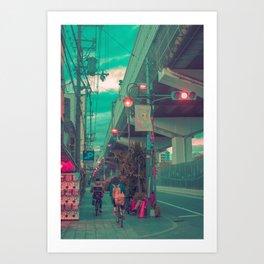 Shinjuku Cycle Art Print