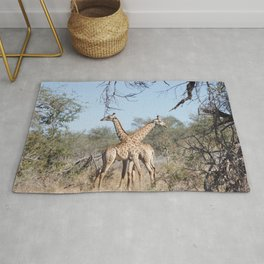 Two Giraffe in the Kruger National Park Rug