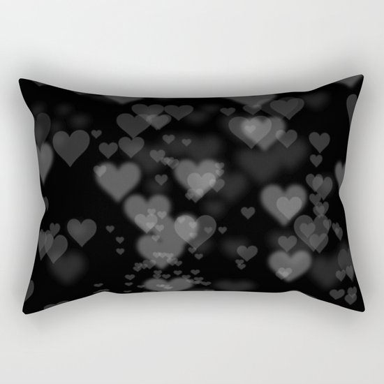 Black Hearts 01 Rectangular Pillow