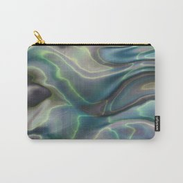 Sea Shell Marbled Pearl Irridescent Carry-All Pouch