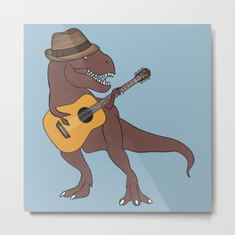 He-Rex Hipster Acoustic Metal Print