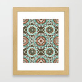 Toned Variety Pattern Framed Art Print