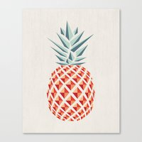 shower Canvas Prints featuring Pineapple  by basilique