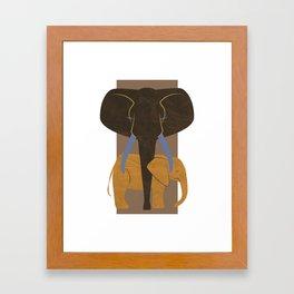 Elephant Mother and Child Framed Art Print
