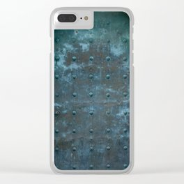 Old Spanish Tarnished Copper Door Clear iPhone Case
