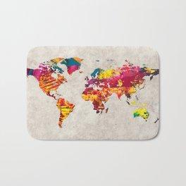 World Map 55 Bath Mat