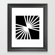 B/W Blast Framed Art Print