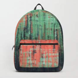 Coral Mint Navy Abstract Backpack