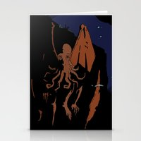 cthulhu Stationery Cards featuring Cthulhu by Theo Leschevin