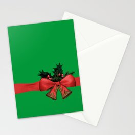 green xmas gift Stationery Cards