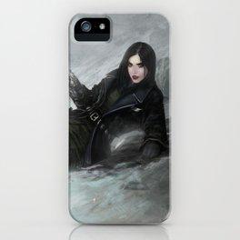 Gunslinger - Badass girl with gun in the snow iPhone Case