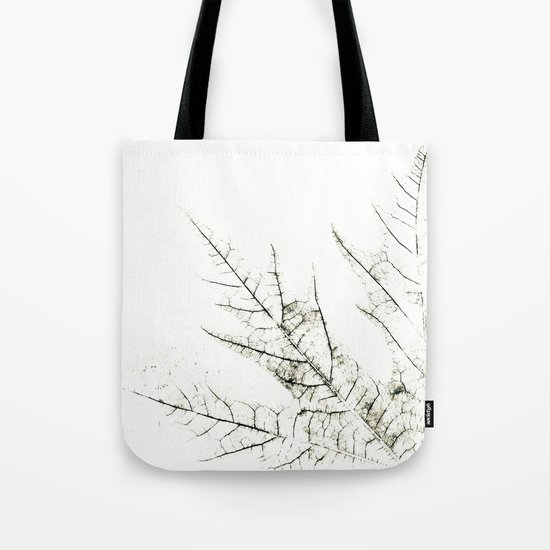 Maple Leaf Silhouette On  White Background Tote Bag