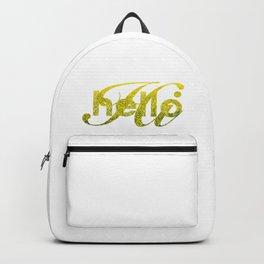 Hello Hi Gold Shimmer Greeting Backpack