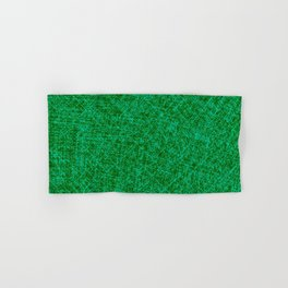 Scratched Green Hand & Bath Towel