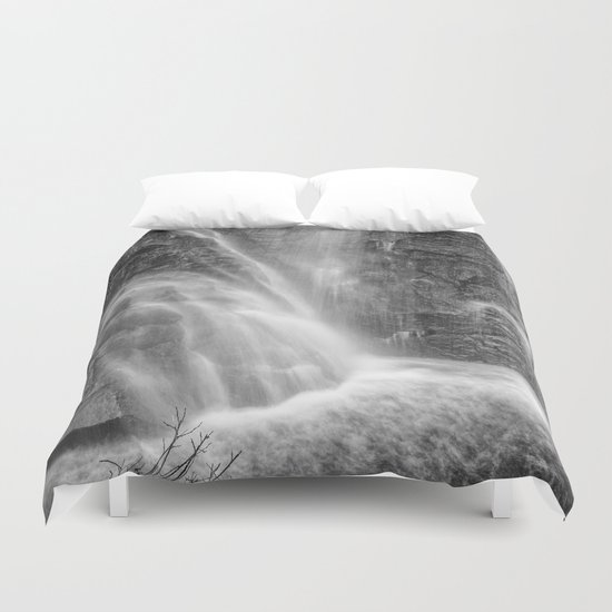 Mountains water. Monochrome. Duvet Cover