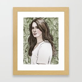 Like I Was Poison Ivy Framed Art Print