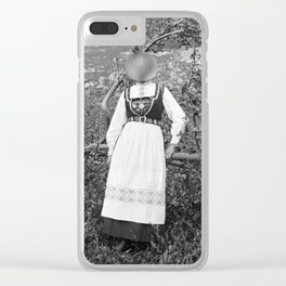Miss Onion by the bushes. 1915. Clear iPhone Case