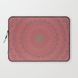 Mauve Rose Simple Mandala Laptop Sleeve