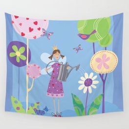 Fairy in the Garden Wall Tapestry