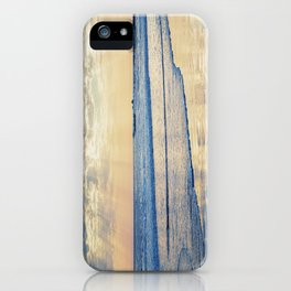 A Message From Above God Rays on Cayucos Beach iPhone Case