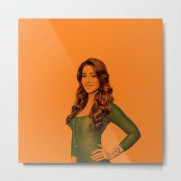 Ileana D Cruz - Celebrity (Florescent Color Technique) Metal Print