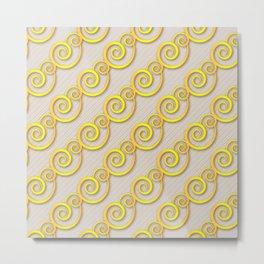 Golden swirls Metal Print