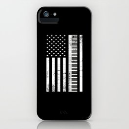 Piano American Flag Piano Player Gift iPhone Case