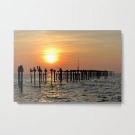 Rustic Sunset Metal Print