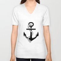 anchor V-neck T-shirts featuring Anchor by Urlaub Photography