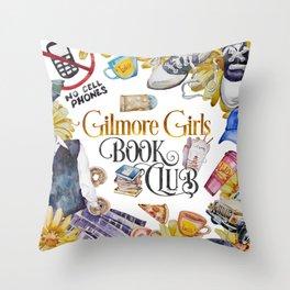 GG Book Club WhiteBG Throw Pillow