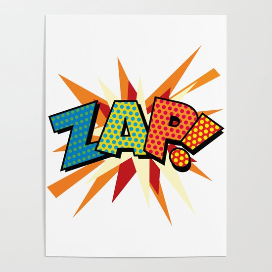 ZAP Comic Book Modern Pop Art Fun Colorful Cool Graphic by theimagezone