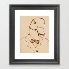 Sir Duck Framed Art Print